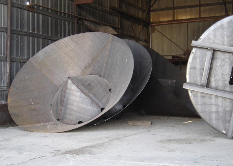 45 degree steel tank Cone antiseg cone