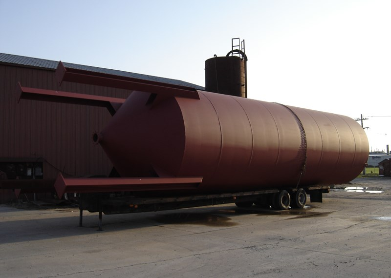 Cone Bottom Steel Storage Silo On Beam Legs 12x36